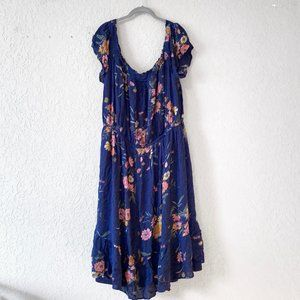 Old Navy Floral Dress Size XXL In Blue Multicolor